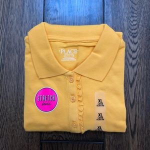 NWT The Children's Place Long Sleeve Uniform Polo